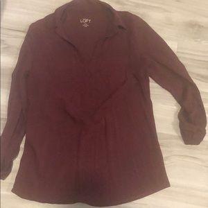 Maroon shirt never worn collared